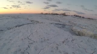 Walking Across Frozen Cape May Canal