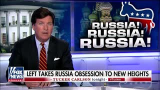 Tucker Carlson mocks media hysteria over Russia
