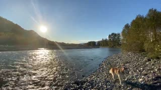 relax with nature Chilliwack river in beautiful British Columbia White Noise Stream