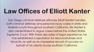 San Diego criminal lawyer - Video