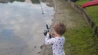 Never Too Early to Start Fishing