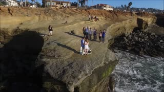 Romantic Sunset Cliffs Proposal - Video