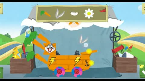 Make and Race with famous cartoon characters : funny rabbit