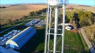 Bee Nebraska Water Tower - Ariel View