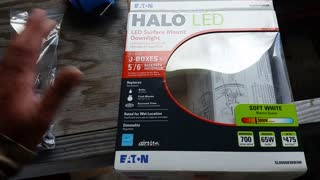 How to install a Halo LED Surface Mount Downlight - Video