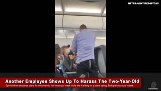 Footage From Spirit Airlines Harassing 2-year-old Over No Mask While Eating