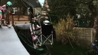 Man Makes Homemade Ski Lift for His Daughters