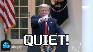 Trump owns loudmouth reporter - laser finger explosion