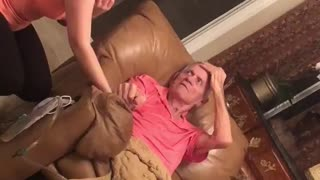 Man with dementia sings emotional song with granddaughter