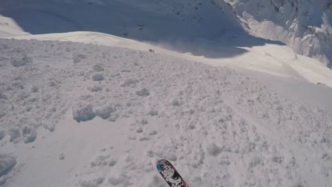 Helmet-camera captures skier caught in avalanche