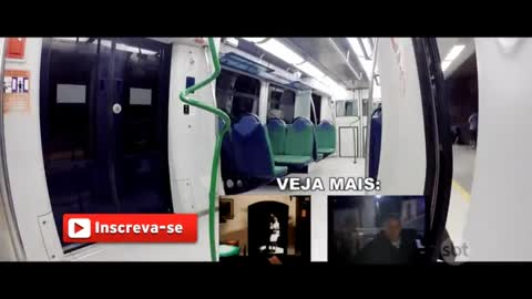 Ghost girl attacks the subway, see the despair of people ... PEGADINHA.