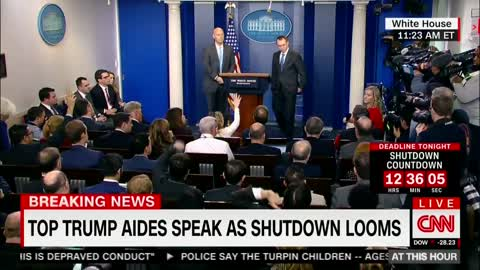 WH Mulvaney Puts CNN's Acosta In His Place Over SchumerShutdown