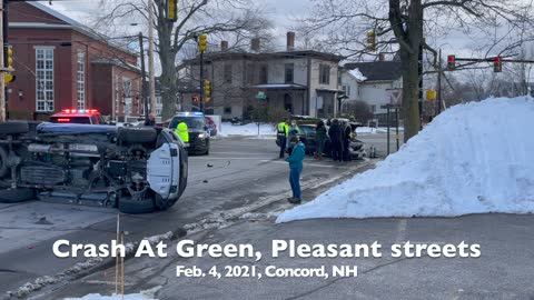 Crash At Green, Pleasant Streets In Concord