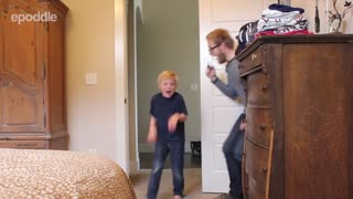 Dad pranks his 6 year old son...TWICE!