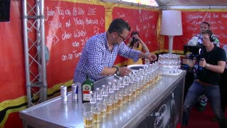 Philip Traber Holds World Record for Pouring 17 Jägerbombs - Video