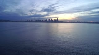 Drone captures epic Seattle skyline sunrise - Video