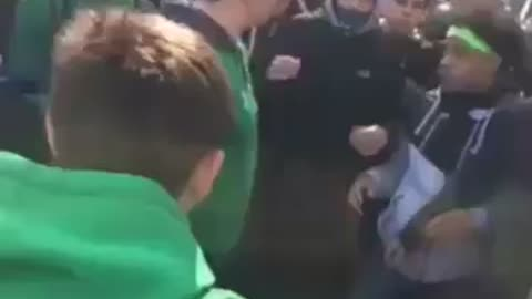Crazy fight at Chicago St. Patrick Parade