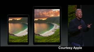 Apple unveils larger iPad, new keyboard - Video