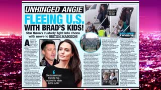 Angelina Jolie Flees The Country With Brad Pitt's Kids? Extra Hot T with COCO PERU! - Video