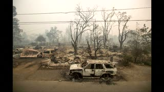 Death reported in California wildfire drama - Video