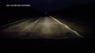 Driver Hits Pedestrian Walking In The Dark - Video