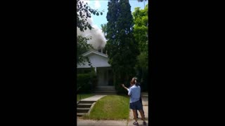 Witness captures dramatic footage of house fire - Video
