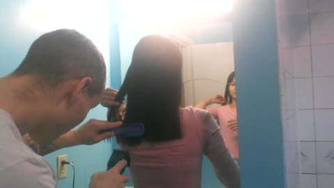 Guy Give Beautiful Thai Haircut And Messes It Up