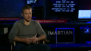 Matt Damon recruits NASA to simulate life on Mars in 'The Martian' - Video