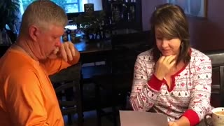 Brady Singer parents read Christmas letter