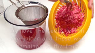 How to make a healthy orange and pomegranate juice - Video