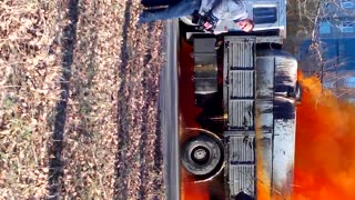 Truck Leaking Acid - Video