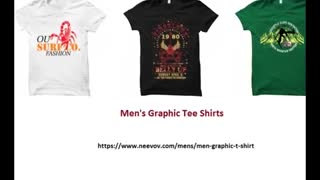 Green Colour Printed Mens T Shirts - Video