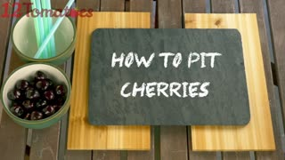 How to pit cherries - Video