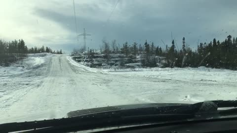Driving the right of Way on powerline site