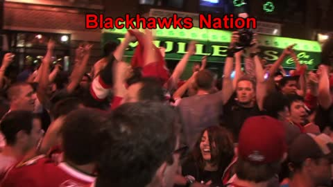 Chicago Blackhawks 2010 Stanley Cup Championship Celebration in Wrigleyville