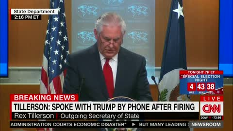 Tillerson Skips Thanking Trump Directly in Farewell Speech After Firing