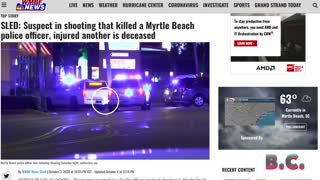 Police officer killed in Myrtle Beach shooting that wounded another officer