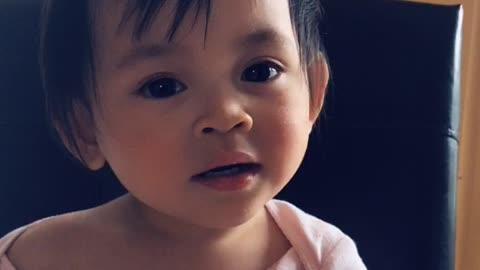Adorable Toddler Can't Figure Out How To Wink
