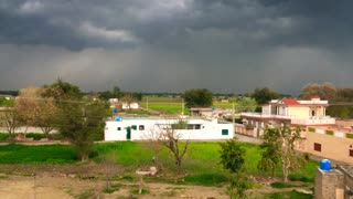What a beautiful view of village