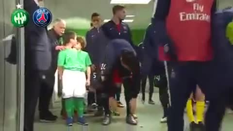Zlatan Ibrahimovic back child is thrown forward