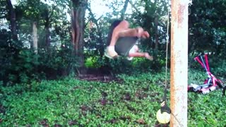 Parkour spin to the ground - Video