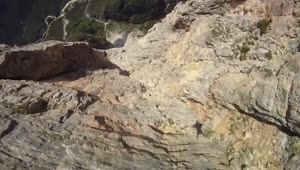 Wingsuit cliff jump that'll make you sweat - Video
