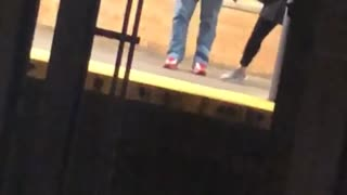 Guy does gangnam style dance across subway station