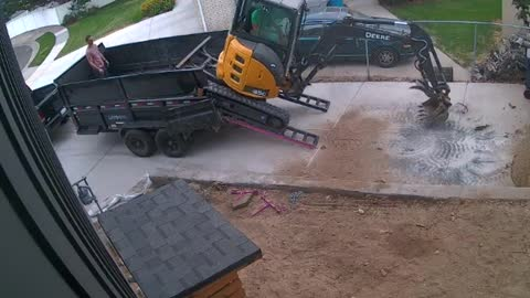 Loading Excavator Doesn't Go Great