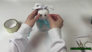 DIY Easter Sock Bunny Decoration - DIYnCrafts.com