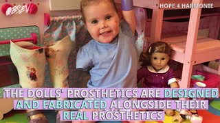Quadruple Amputee Toddler Gets Doll That Looks Just Like Her - Video