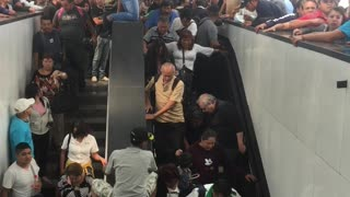 Escalator keeps bringing people upstairs, but there's no place to go