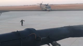 CH53E coming back from flight
