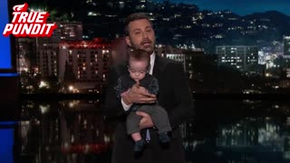 Smug Kimmel Uses Son To Stump For Government Program, Botches The Facts - Video