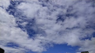Running clouds timelapse